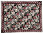 Antique French Aubusson Floral Victorian Roses Wool Needlepoint 8.7'x11.5' Rug