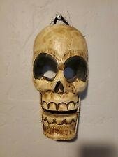 Halloween Wooden Skull Wall Decor -  Handmade - DAV Donation