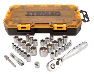 DEWALT DWMT45034 Socket Set, 3/8-Inch Drive, SAE/Metric, 34-Piece