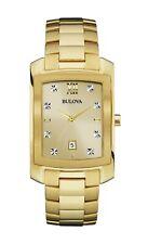 Bulova Men's Quartz Diamond Accent Gold-Tone Bracelet 36mm Watch 97D107