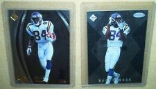 Randy Moss - 1998 Collector's Edge Masters rookie card #95 + S186 #/5000