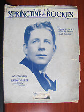 When It's Springtime in the Rockies -Rudy Vallee -1929 sheet music Ukulele guita
