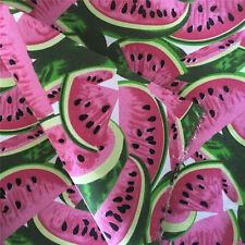 50x148cm Cotton Canvas Fabric DIY Craft Material Watermelon Slice 5-1 E