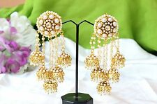 Jhumka Jhumki Bollywood Earring Set Indian Ethnic Traditional Gold Plated Pearl