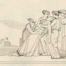 Andromaque Hector Achille Mythologie Homère Odyssée John Flaxman gravure 19e