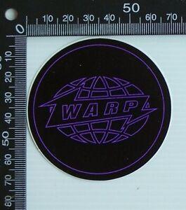 OLD WARP ARTISTS INDEPENDENT RECORD LABEL UK ALBUM PROMO ADVERTISING STICKER