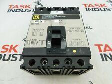 Square D Cat No. Fap36060 60Amp 600V 3 pole Circuit Breaker