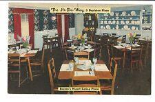 Vintage Postcard Boston MA Hi-Da-Way Restaurant 3 Boylston Place Maple Room
