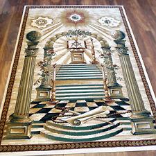 "Masonic Woven Area RUG 3'8""x5'3"" Carpet Apron Lodge Freemason Mason Ring Templar"