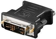 Goobay analogique DVI-A/VGA Adaptateur Noir DVI-A mâle 12+5 Broches Vers VGA Femelle 15-pin