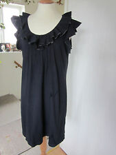 Next navy dress 100% Cotton fab detail round the neckline Good gently used Cond.