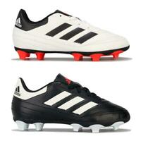 Junior Boys adidas Goletto VI Firm Ground Football Boots in Black and White
