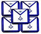 5 Blue Lodge Chain Collar Master Mason Apron with Square Compass