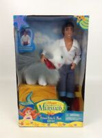 Prince Eric and Max Gift Set Little Mermaid Vintage 90s Disney Barbie Doll New