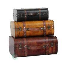 Vintique Wood Valigie Vintage, Set 3 Pezzi
