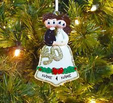 Couple's 50th Golden Wedding Anniversary First Personalized Christmas Ornament