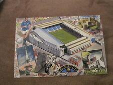 postcard - Everton football club - European venues