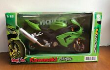 Maisto 1:12 Kawasaki Ninja ZX-10R DIE CAST MODEL Motorbike Green - Damaged Box.