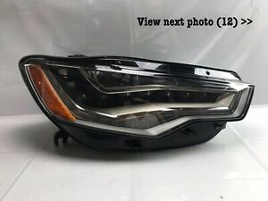 2012 2013 2014 2015 Audi A6 S6 FULL LED Headlight Passenger Right W/Moudles OEM
