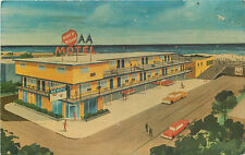 AA Motel ~WILDWOOD NJ~ Great Old ART DECO Advertising Postcard