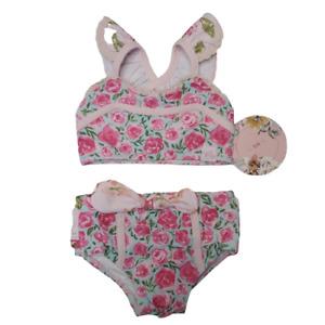 Sweet Honey Baby Girl 6 Mo Bikini Set NWT Pink Floral Swimsuit 2 Piece Set 6m