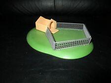 Rare 2003 Geobra Playmobil Fenced Yard Grass Dog House Lawn
