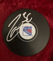 New York Rangers Mats Zuccarello Autographed Official NHL Game Puck NYR COA