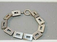PreOwned Barra 35.5 grams Sterling Silver Toggle Tire Tread Link Bracelet 7.75""