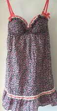 Victoria's Secret Pink Floral Cotton Underwired Chemise Nighty Extra-Small