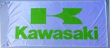 KAWASAKI FLAG WHITE - SIZE 150x75cm (5x2.5 ft) - BRAND NEW