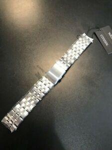 NEW 20mm Original Citizen Watch St. Steel Bracelet with Deployment Clasp Closure