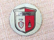 DISCHETTO CALCIO METALLO ANNI '70 PERSICOSTAMPA SCUDETTO TORINO