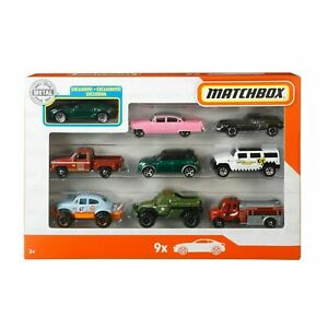 Matchbox X7111 Police Sheriff Trucks & Fire Fighter Toy Cars - 9 Pieces