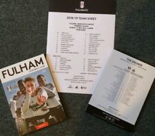 Fulham vs Newcastle United 12/05/2019 PROGRAMME WITH TEAMSHEET!