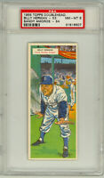 1955 Topps Double Header #53 54 Herman HOF Amoros Brooklyn Dodgers PSA NM/MT 8
