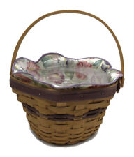 New ListingLongaberger Morning Glory Basket Combo Protector Liner Floral 2000 May Series