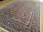8x10  7x10 Antique Persian Mahal Oriental Area Rug wool rust green beige