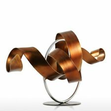 Modern Wriggle Sculpture Abstract Metal Iron Indoor Outdoor Home Office Decor