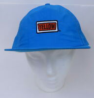 Vtg Yellow Transportation Trucking Co Nylon Blue Cap Hat Made in USA Snapback