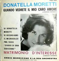 "DONATELLA MORETTI  MATRIMONIO D' INTERESSE 7"" (ognibene ) ENNIO MORRICONE"