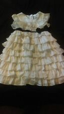 Baby Gap white ruffle dress with black bow 4 wedding special occasion