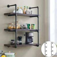 3 Tiers Industrial Iron Pipe Shelf Retro Wall Mounted Shelving without board