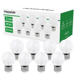 8PACK G45 LED 6W E27 Globe Light Bulbs Warm White Round Golf Lamp 3000K Bulb