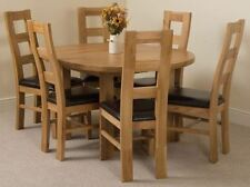 Oak Up to 6 Seats Oval Dining Tables Sets