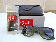 Ray-Ban RB4165 601/8G Justin Black Sunglasses 54-16-145 Gradient Gray Lenses