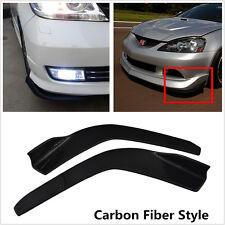 2x Universal Carbon Fiber Winglet Type Front Bumper Lip Splitter Diffuser Canard