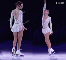 White Ice Figure Skating Dresses Custom Competition Skating Dress Girls