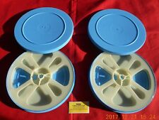 (2) *NEW* Super8 400' REEL & CAN SETS PLASTIC (WHITE/BLUE)