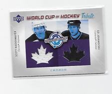 NIEDERMAYER JOVANOVSKI 04-05 UD WORLD CUP OF HOCKEY DUAL CANADA TRIBUTE JERSEY