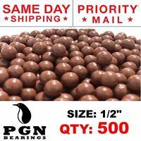 "500 QTY - Biodegradable Slingshot Ammo 1/2"" Inch Precision Hard Clay Balls"